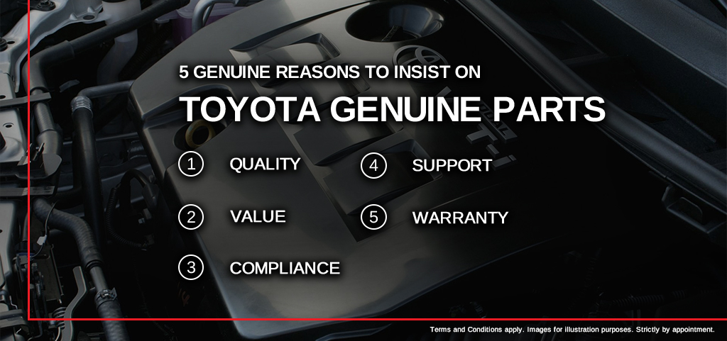 5 Reasons To Purchase Genuine Toyota Parts