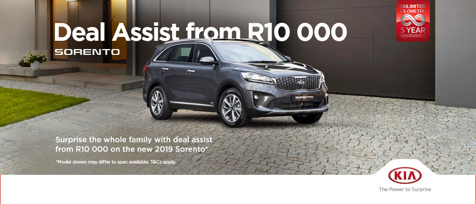 R10 000 Deal Assistance on the Kia Sorento