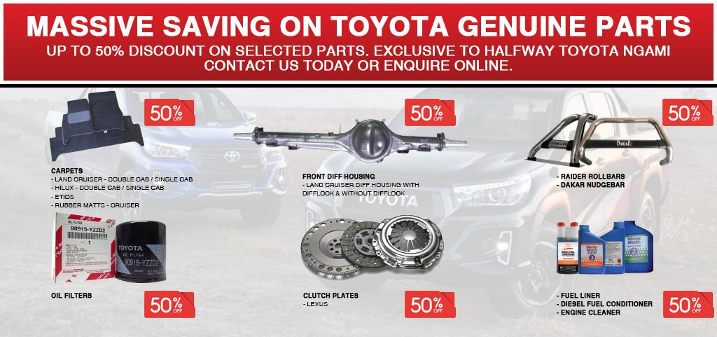 Massive Saving On Toyota Genuine Parts