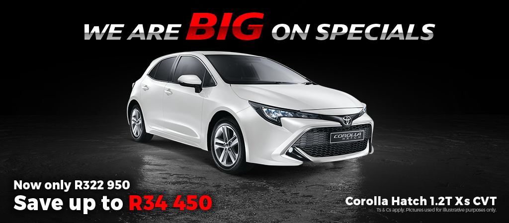 We Are Big On Specials   Corolla Hatch