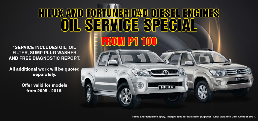 Hilux And Fortuner Oil Service Special