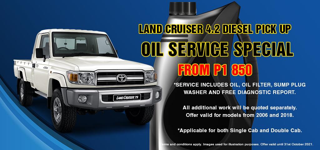 Land Cruiser 42 Oil Service