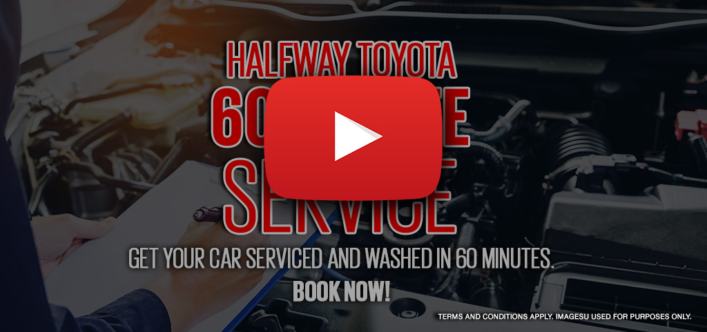 Halfway Toyota 60 Minute Service