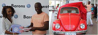 Lucky competition winner, Emmanuel Zweletini Mnyandu from Dawn Park, Boksburg