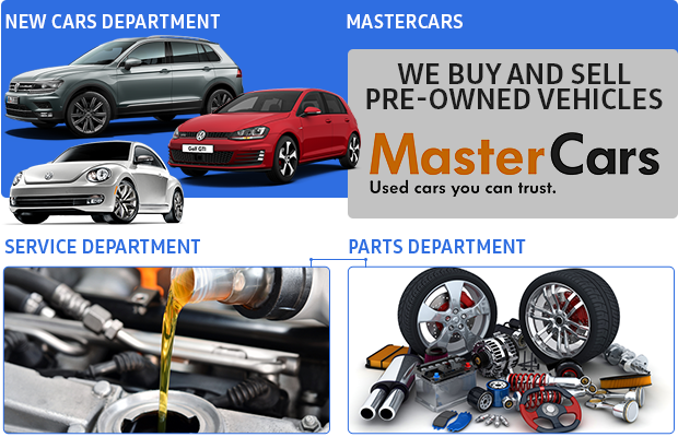 New Cars Department | Master cars | Service Department | Parts Department.