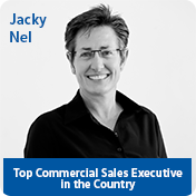 Jacky. Top Commercial Sales Executive in the Country.