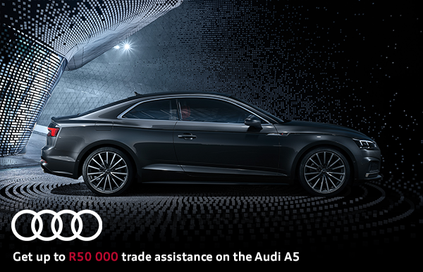 Get up to R50 000 trade assistance on the Audi A5