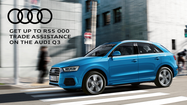 Get up to R55 000 trade assistance on the Audi Q3