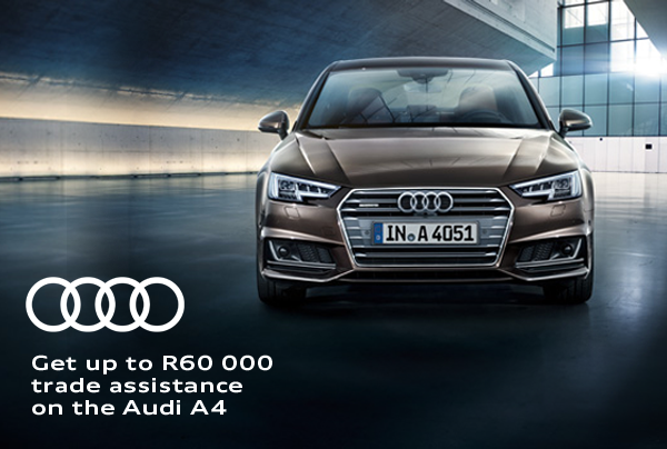 Get up to R60 000 trade assistance on the Audi A4