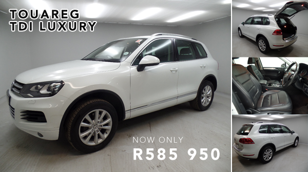 Touareg TDI Luxury for as little as R585 950
