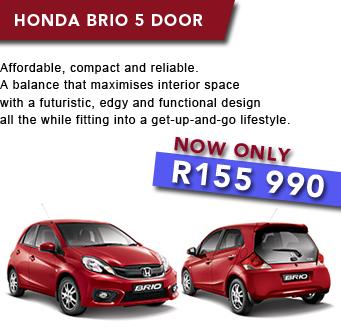 Honda Brio 5 Door         NOW ONLY R155 990