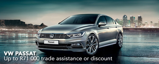 VW PASSAT Up to R71 000 trade assistance or discount