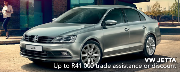 VW JETTA Up to R41 000 trade assistance or discount