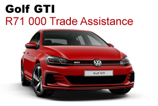 Golf GTI R71 000 Trade Assistance