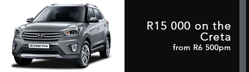 R15 000 on the Creta from R6500pm