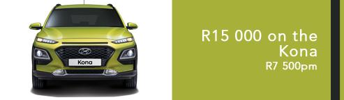 R15 000 on the Kona R7500pm