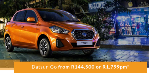 Datsun Go from R144,500 or R1,799pm*