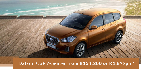 Datsun Go+ 7-Seater from R154,200 or R1,899pm*