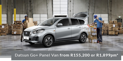 Datsun Go+ Panel Van from R155,200 or R1,899pm*