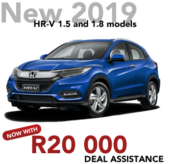 New 2019 HR-V 1.5 and 1.8 models