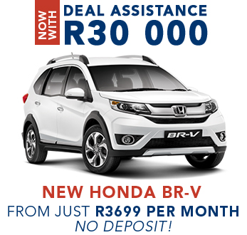 Now with Deal Assistance R30 000 New Honda BR-V from just R3699 per month, no deposit!