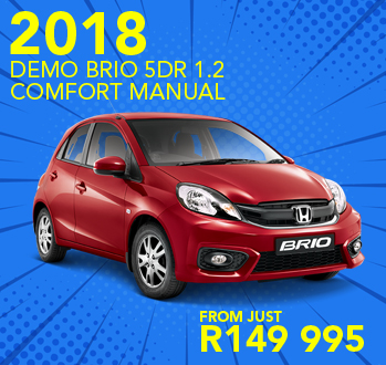 2018 Demo Brio 5Dr 1.2 Comfort Manual from just R149 995