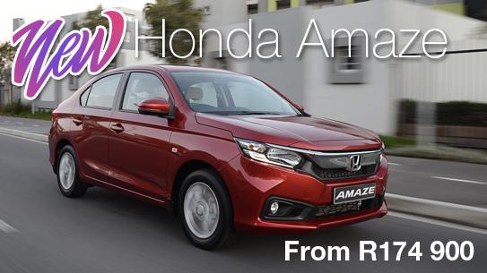 NEW Honda AmazeFrom R174 900