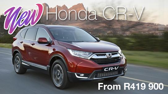 NEW Honda CR-VFrom R419 900