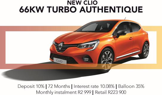 NEW CLIO 66KW TURBO AUTHENTIQUE