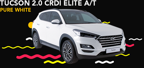 TUCSON 2.0 CRDi ELITE A/T PURE WHITE