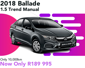 2018 Ballade 1.5 Trend Manual, only 10,000km, now only R189 995