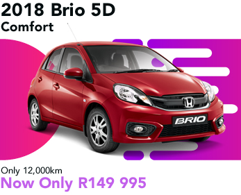 2018 Brio 5D Comfort 5D, only 12,000km, now only R149 995