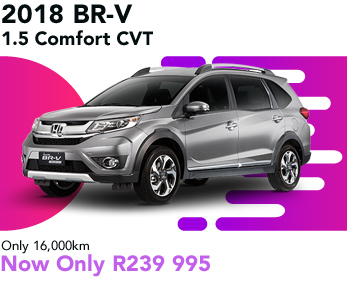 2018 BRV 1.5 Comfort CVT, only 16,000km, now only R239 995