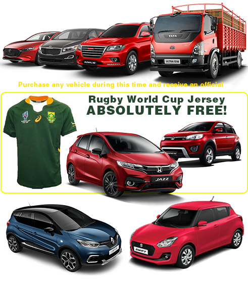 Purchase any vehicle during this time and receive an official Rugby World Cup absolutely FREE!