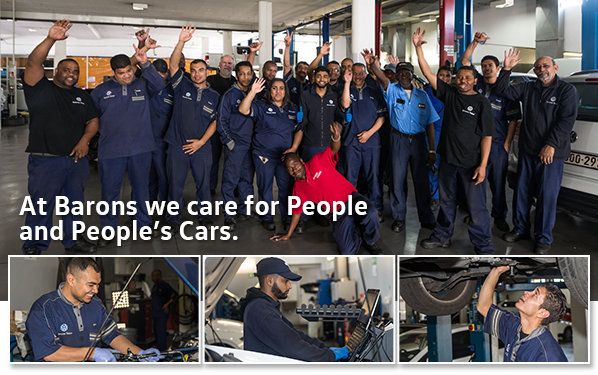 At Barons we care for People and People's Cars.