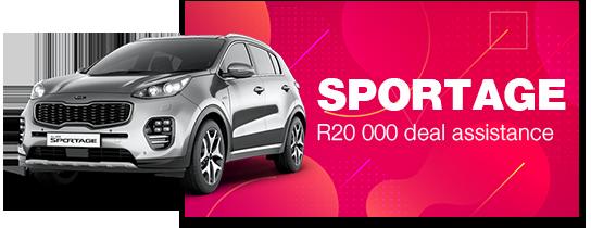 SPORTAGE: R20 000 deal assistance