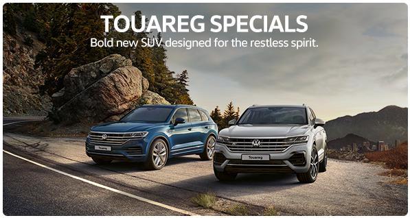 TOUAREG SPECIALS  Bold new SUV designed for the restless spirit.