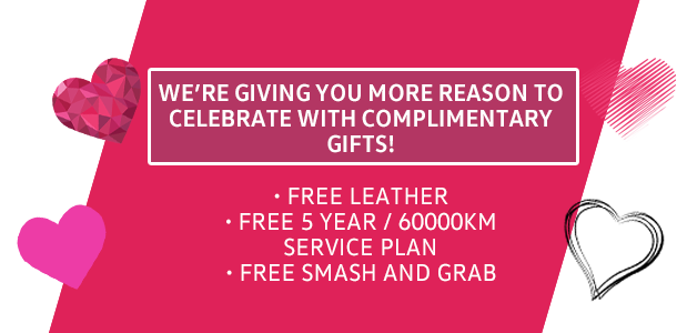 We're giving you more reason to celebrate with complimentary gifts!