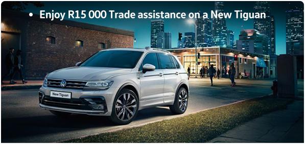 Enjoy R15 000 Trade assistance on a New Tiguan