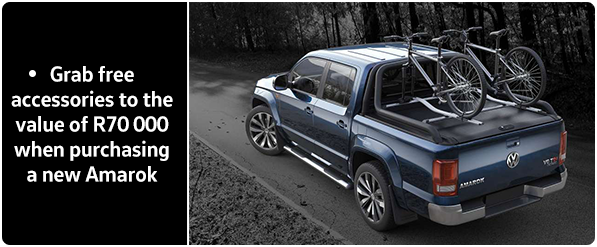 Grab free accessories to the value of R70 000 when purchasing a new Amarok