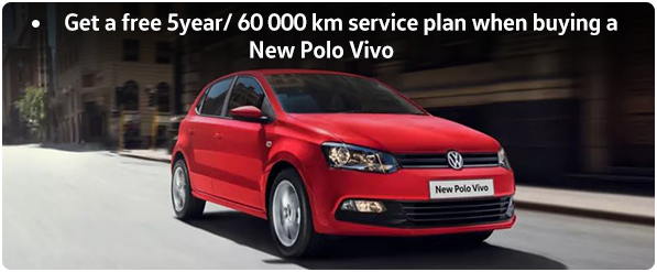 Get a free 5year/ 60 000 km service plan when buying a New Polo Vivo