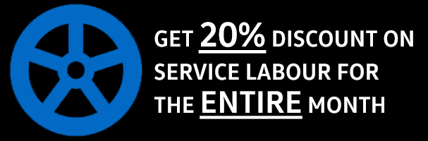 et 20% discount on service labour for the entire month