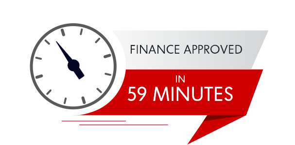 Finance approved in 59 minutes
