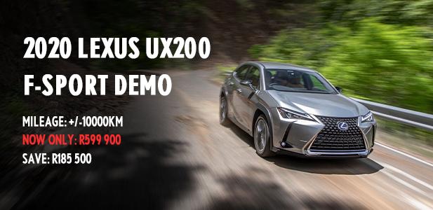 2020 Lexus UX200 F-Sport Demo.